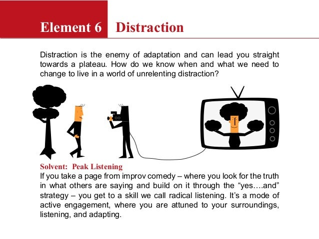 Distraction is the enemy of adaptation and can lead you straighttowards a plateau. How do we know when and what we need to...