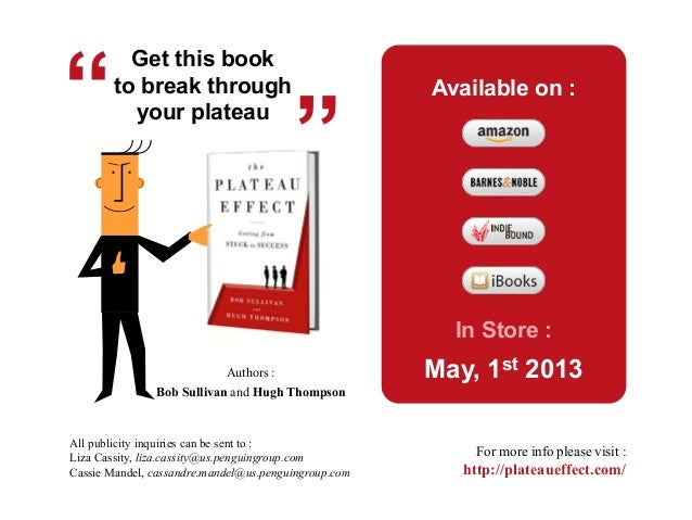 Get this bookto break throughyour plateauBob Sullivan and Hugh ThompsonAuthors :Available on :In Store :May, 1st 2013All p...
