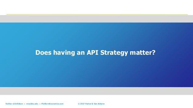 12© 2017 Parker & Van AlstyneTwitter: @InfoEcon :: mva@bu.edu :: PlatformEconomics.com Does having an API Strategy matter?...