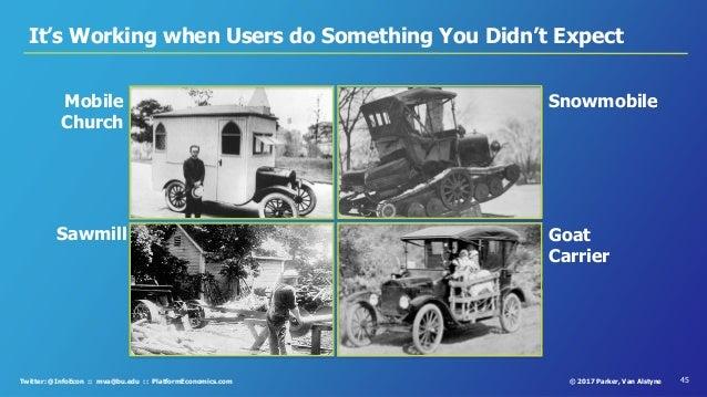 45© 2017 Parker, Van AlstyneTwitter: @InfoEcon :: mva@bu.edu :: PlatformEconomics.com It's Working when Users do Something...
