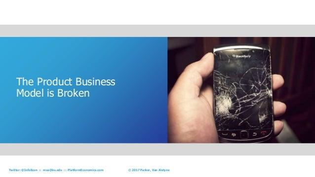 7© 2017 Parker, Van AlstyneTwitter: @InfoEcon :: mva@bu.edu :: PlatformEconomics.com The Product Business Model is Broken ...