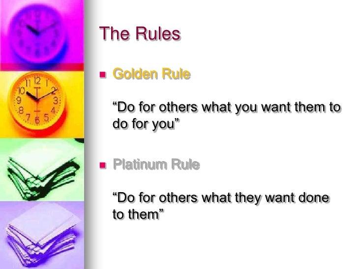 platinum rule definition