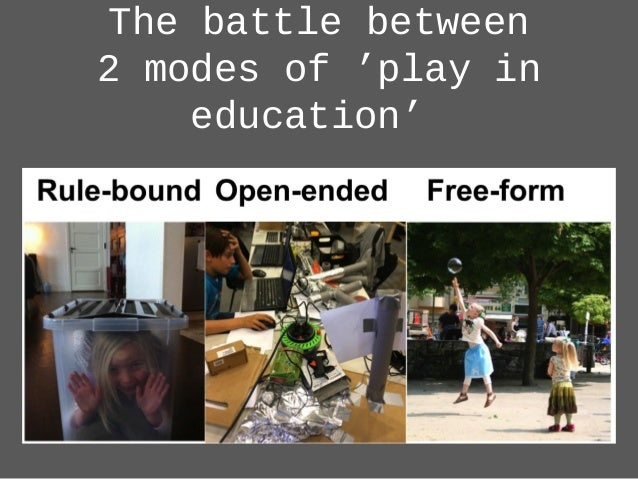 The battle between 2 modes of 'play in education'