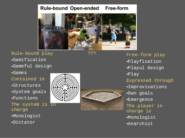 Rule-bound play •Gamification •Gameful design •Games Contained in •Structures •System goals •Functions The system is in ch...