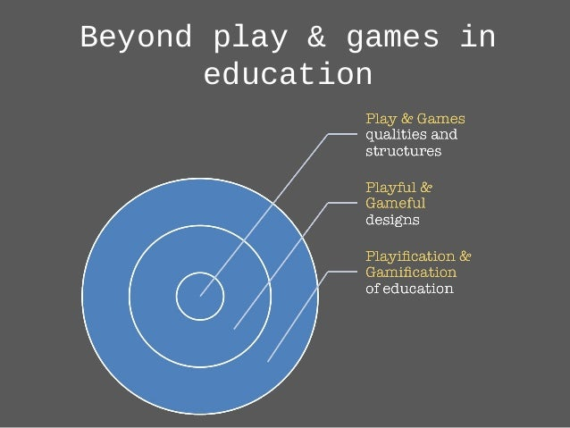 Beyond play & games in education