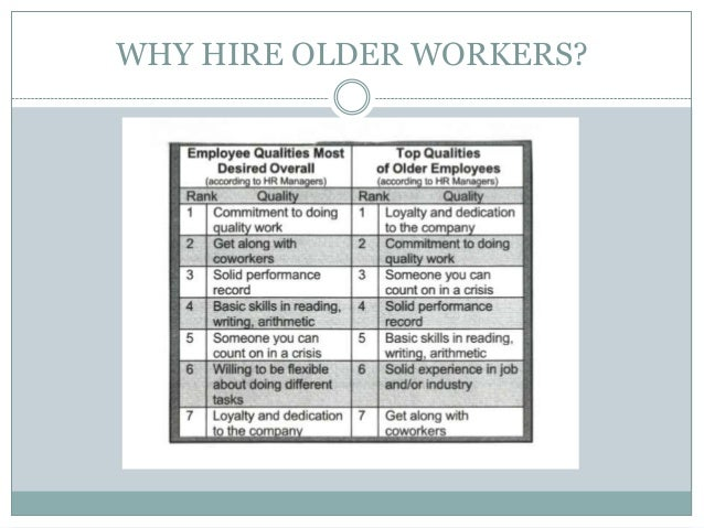 older employees versus younger employees In the past, old employees held higher positions and young employees did as the older employees told them  how can young & old employees find common ground.