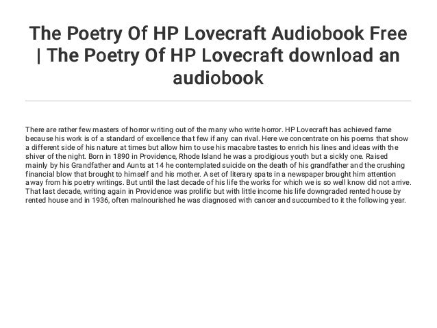 Hp Lovecraft Poems 5