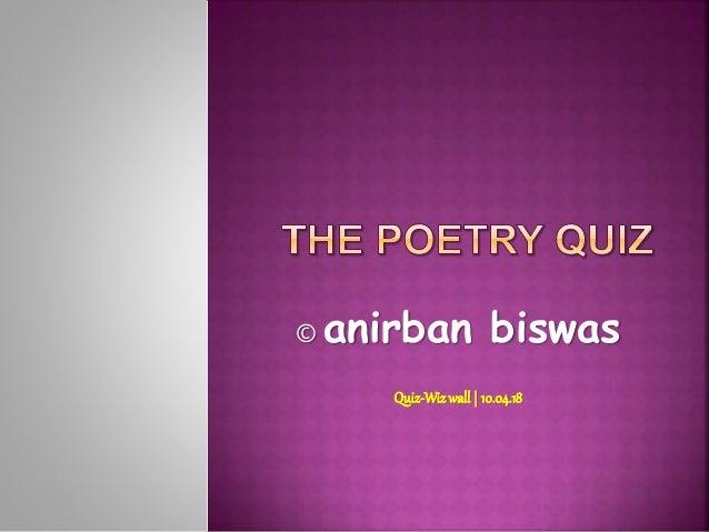 © anirban biswas Quiz-Wizwall| 10.04.18