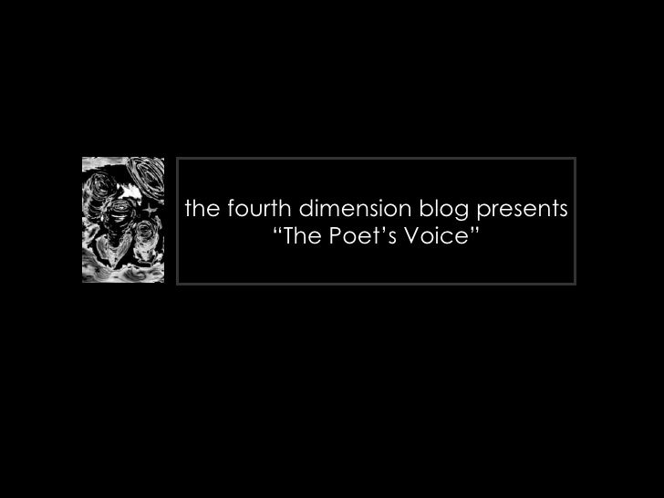 """the fourth dimension blog presents """"The Poet's Voice"""" First Edition - Version 1 (microsoft powerpoint)"""