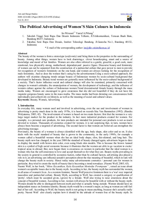 Arts and Design Studies www.iiste.org ISSN 2224-6061 (Paper) ISSN 2225-059X (Online) Vol.10, 2013 14 The Political Adverti...