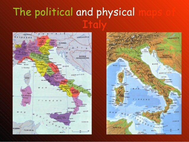 The Political And Physical Maps Of Italy - Political map of italy