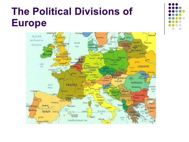 The political divisions of europe compressed