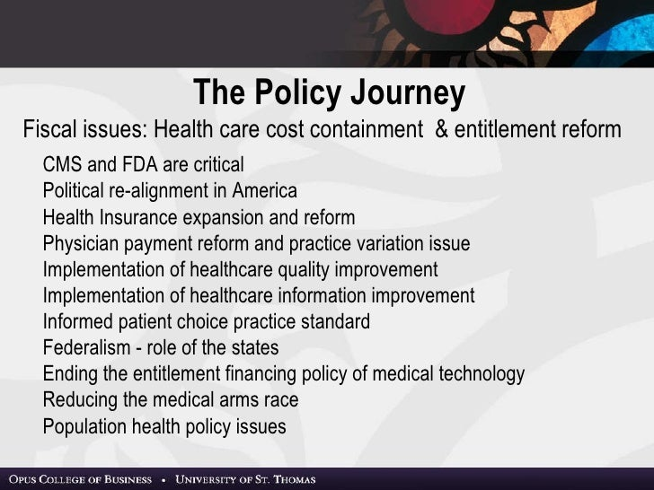 What are the critical policy issues related to access to care cost of care and quality of care