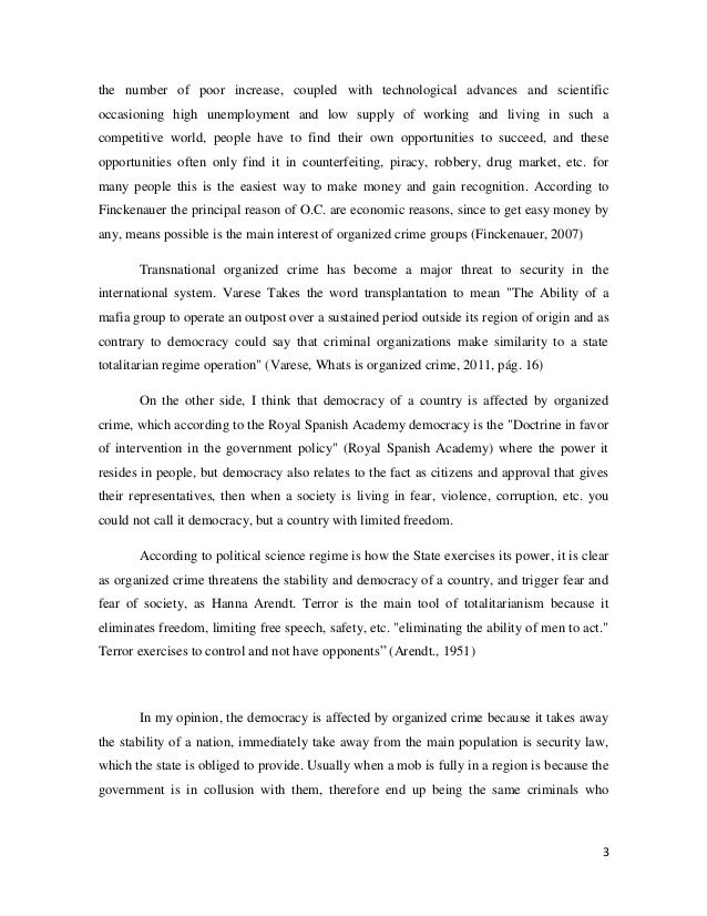 essay on crime co the politics of organized crime last essay
