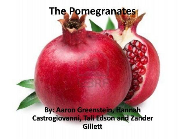 The Pomegranates    By: Aaron Greenstein, HannahCastrogiovanni, Tali Edson and Zander                Gillett