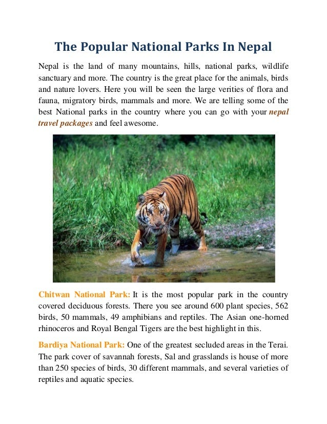 The Popular National Parks In Nepal