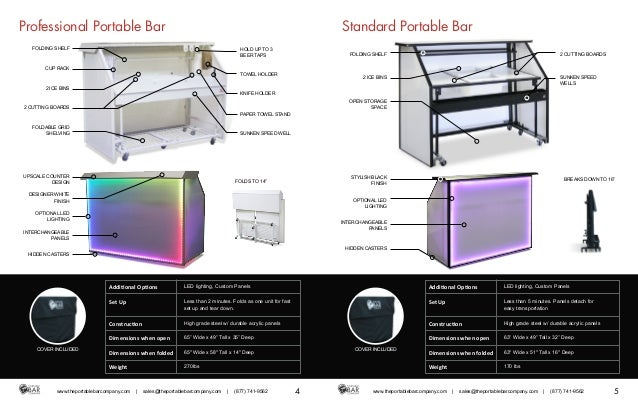 3. Professional Portable Bar ...