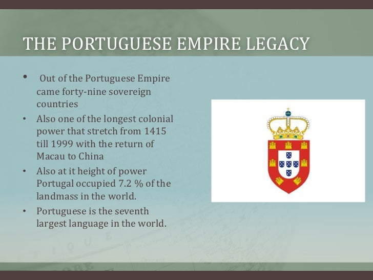 portuguese legacy for brazil The phd program in portuguese and luzo-brazilian literatures embraces all   graduate seminars focus on the work and legacy of major authors such as.