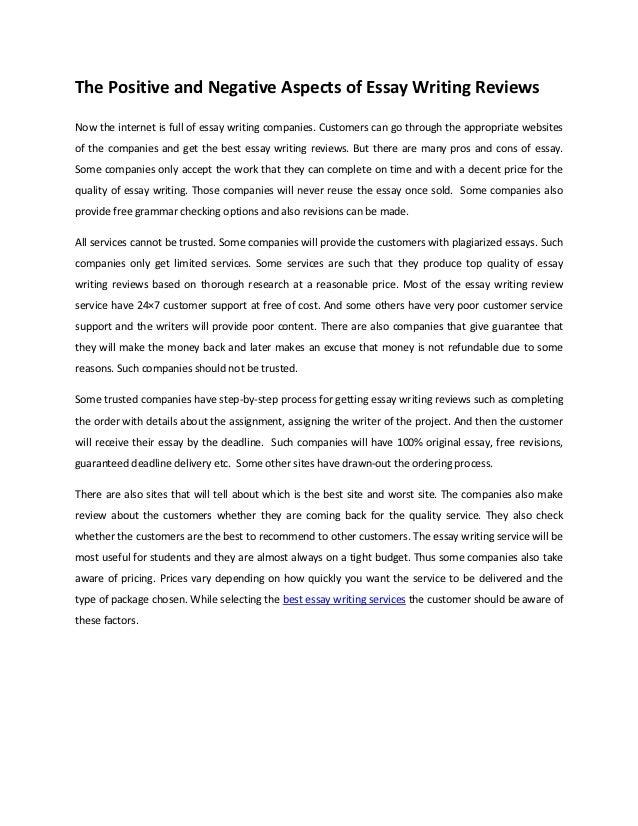 https://image.slidesharecdn.com/thepositiveandnegativeaspectsofessaywritingreviews-121024061715-phpapp02/95/the-positive-and-negative-aspects-of-essay-writing-reviews-1-638.jpg?cb\u003d1351059468