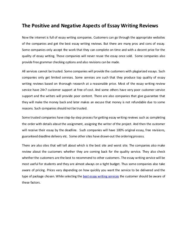 Positive and negative aspects of globalization essay papers
