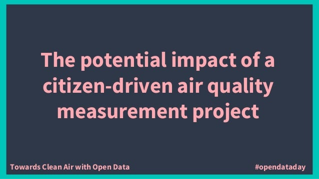 The potential impact of a citizen-driven air quality measurement project Towards Clean Air with Open Data #opendataday