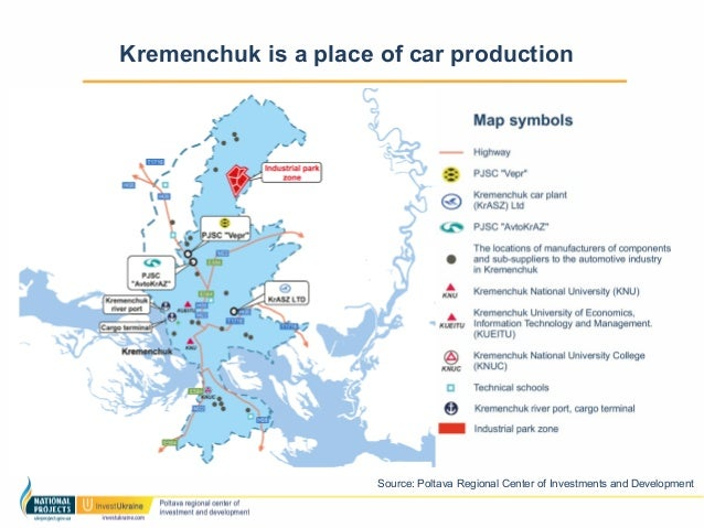 The Potential Of Automotive Industry - Kremenchuk map