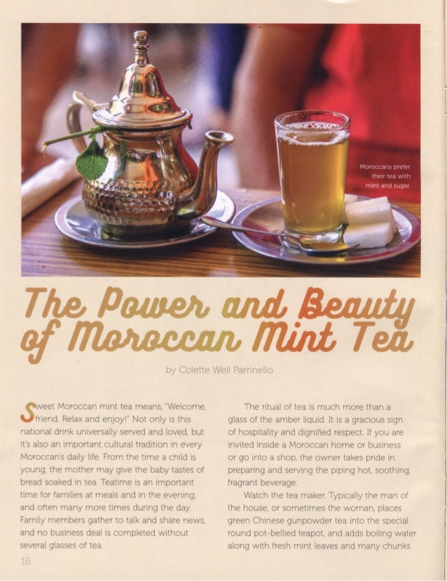 The Power and Beauty of Moroccan Mint Tea by Colette Weil Parrinello Cobblestone Pub