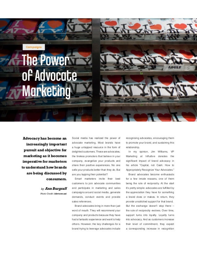 Social media has realized the power of advocate marketing. Most brands have a huge untapped resource in the form of deligh...