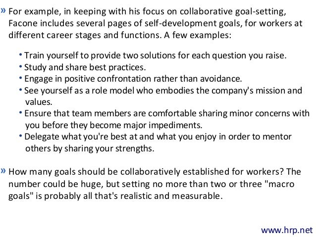 The power of collaborative goal setting in driving for Smart goals template for employees