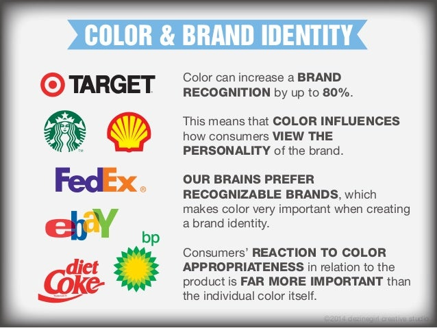 COLOR & BRAND IDENTITY Color can increase a BRAND RECOGNITION by up to 80%. This means that COLOR INFLUENCES how consumers...