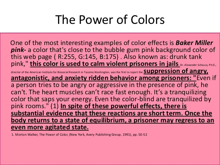 The power of colors updated - The power of color ...