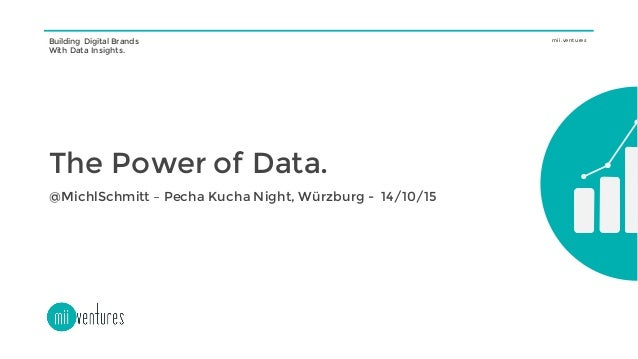 Building Digital Brands With Data Insights. mii.ventures The Power of Data. @MichlSchmitt – Pecha Kucha Night, Würzburg - ...