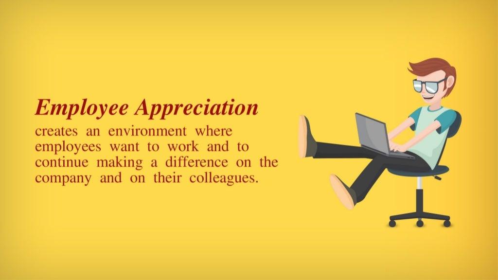 employee appreciation creates an environment