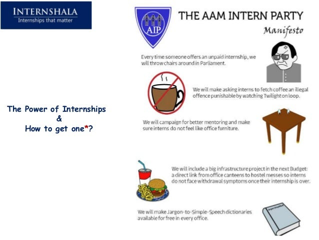 The Power of Internships           &    How to get one*?