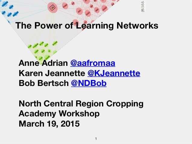 The Power of Learning Networks Anne Adrian @aafromaa Karen Jeannette @KJeannette Bob Bertsch @NDBob North Central Region C...