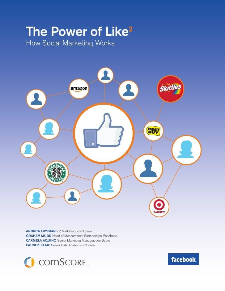 The Power of Like2How Social Marketing WorksANDREW LIPSMAN VP, Marketing, comScoreGRAHAM MUDD Head of Measurement Partners...