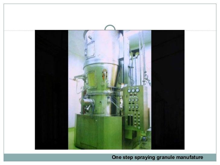 One step spraying granule manufature