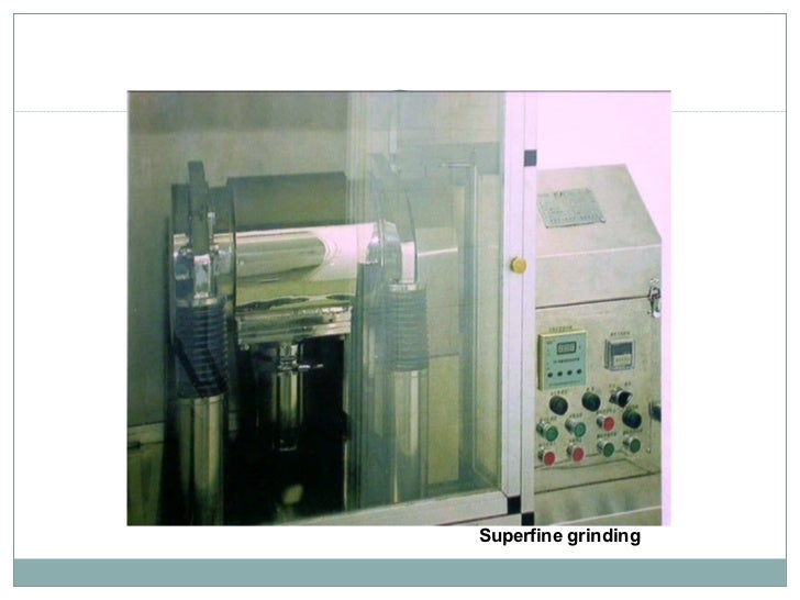 Superfine grinding