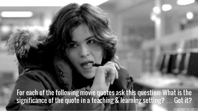 The power of movie quotes in learning a caedchat hosted