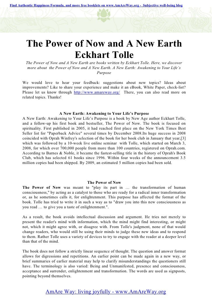 The power of now   a new earth - eckhart tolle