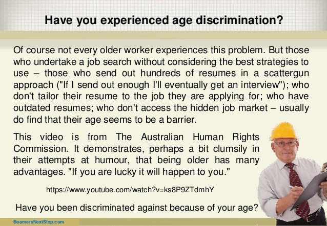 essays on age discrimination in the workforce Free discrimination workplace papers, essays powerful essays: age discrimination in the workplace - age work discrimination essays.
