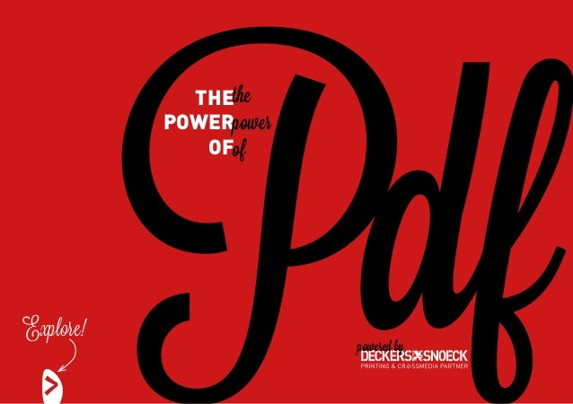 Pdf             THEthe           POWERpower              OFofExplore!                        powered by