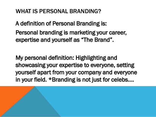The power of personal branding thru the use Slide 2