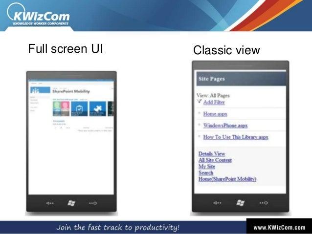 Classic viewFull screen UI