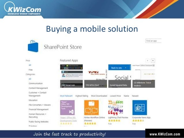 Buying a mobile solution