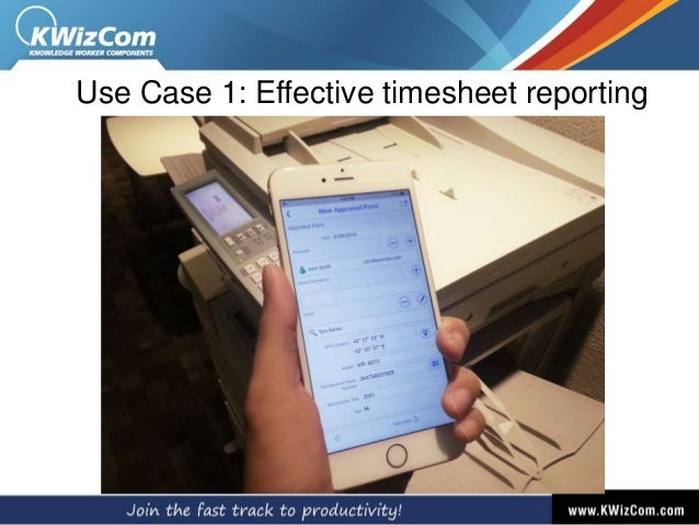 Use Case 1: Effective timesheet reporting