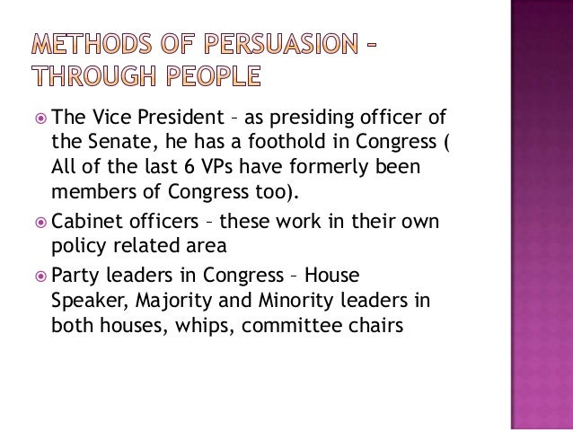 presidential power persuasion Power without persuasion: the politics of direct presidential action by william g  howell princeton, nj: princeton university press, 2003 pp xiii + 239 $4500.