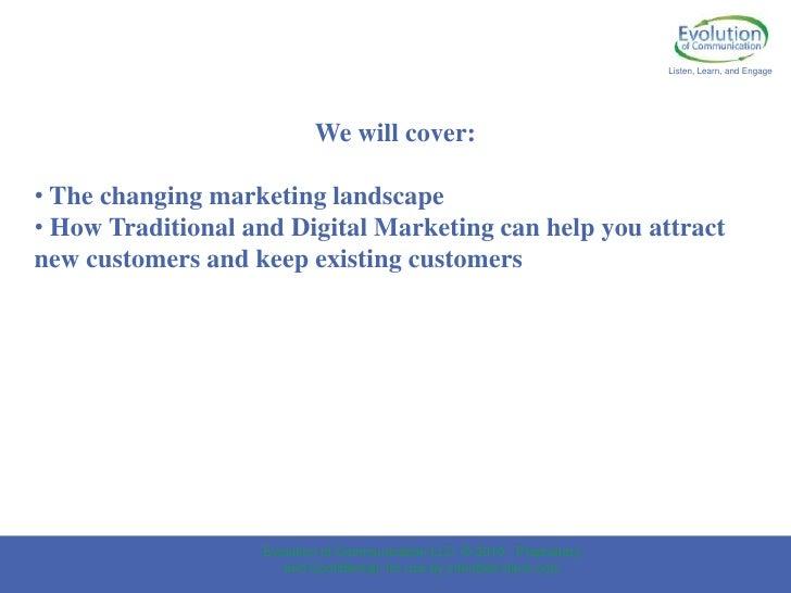 traditional and digital marketing pdf