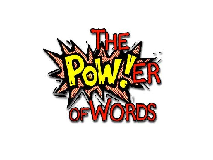 the power of words paper Synonyms for power at thesauruscom with free online thesaurus, antonyms, and definitions find descriptive alternatives for power.