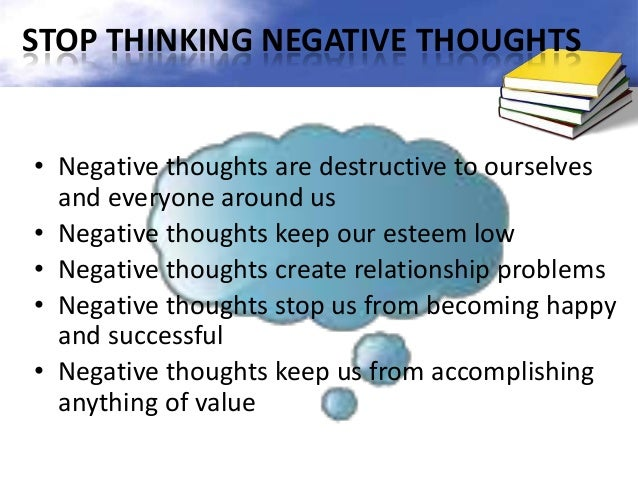 how to stop thinking negative thoughts in a relationship